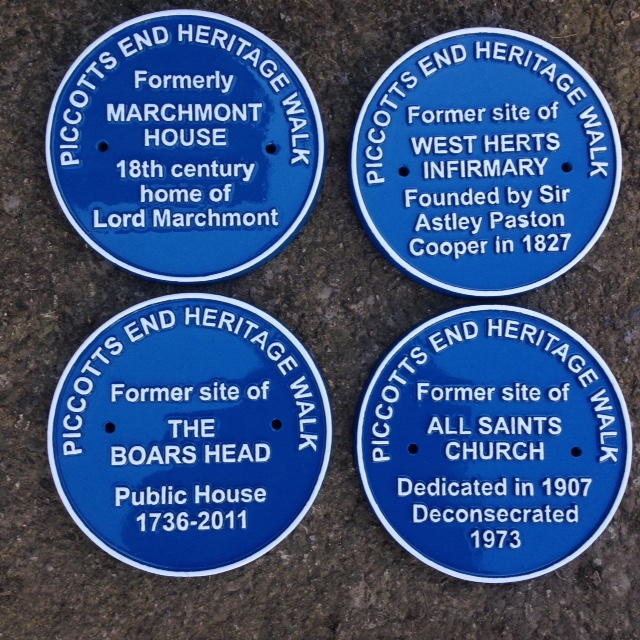 Blue Plaques made from Cast Aluminium by Croft Cast Signs