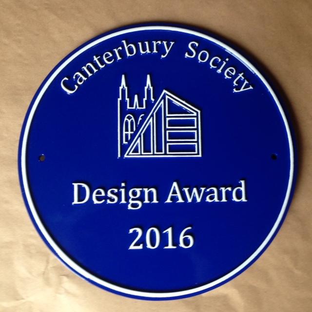 Contemporary Blue Plaque Design
