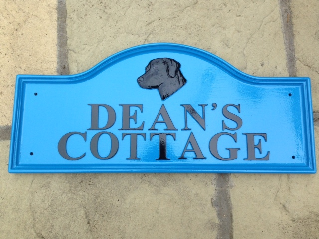 Deans Cottage Dog House Sign