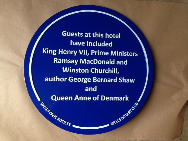 Cast Blue Plaque
