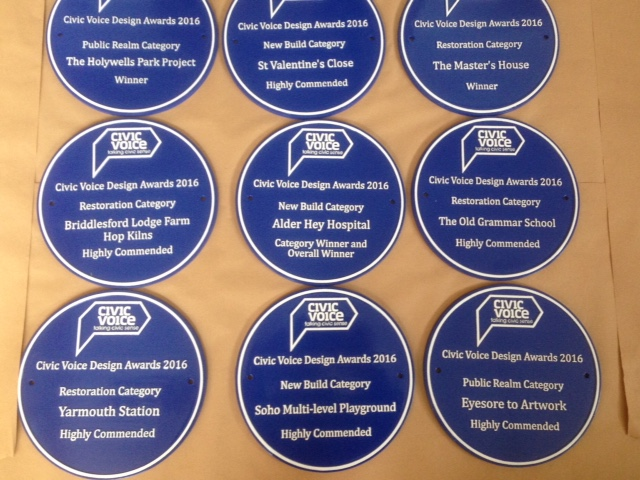 Cast Alumnium Blue Plaques