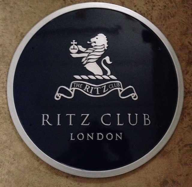 Cast Metal Sign for The Ritz Club, London