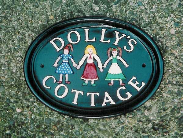 Cast Metal House Sign
