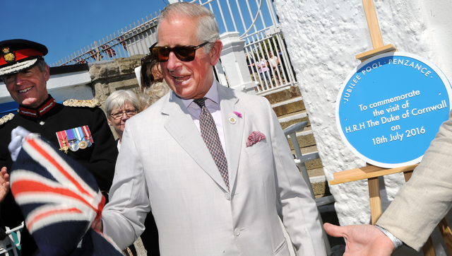 Prince Charles in Penzance, Cornwall