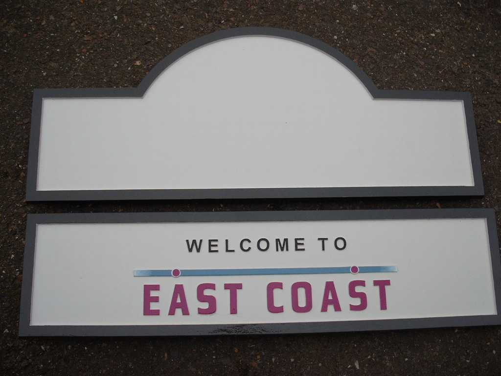 East Coast Railway Signs