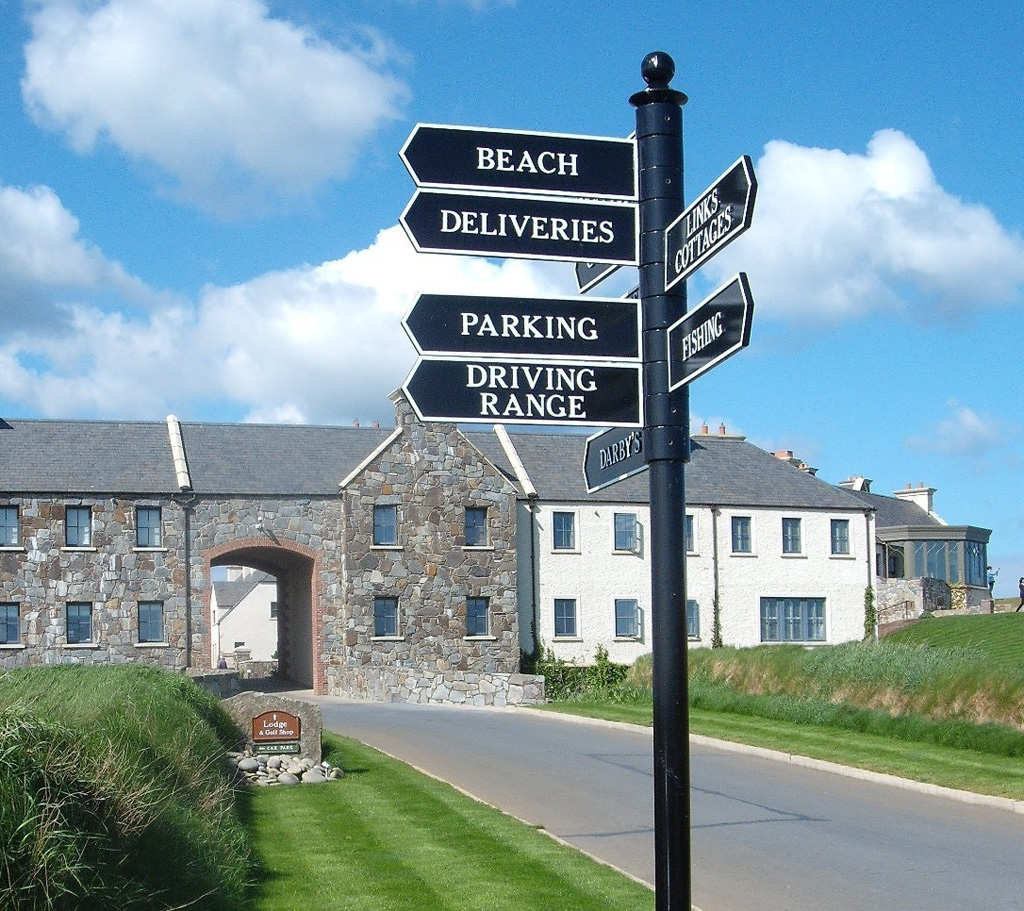Fingerpost Street Sign