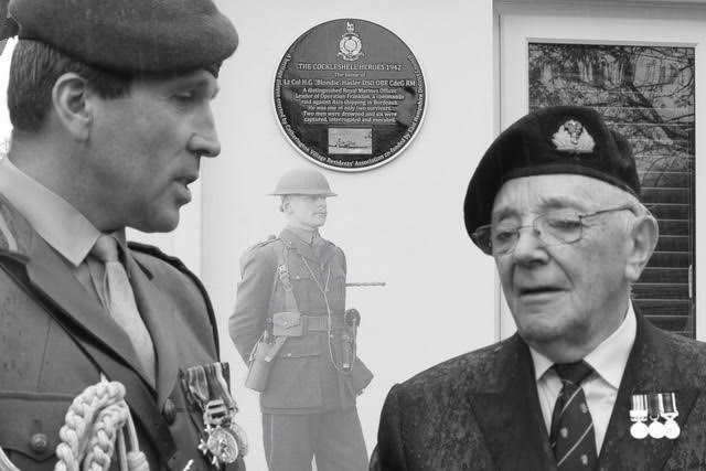 Commemorative Blue Plaque for War Hero Blondie Hasler